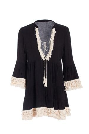 BLACK & BEIGE MILA DRESS