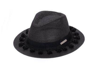 BLACK & BLACK MILA HAT