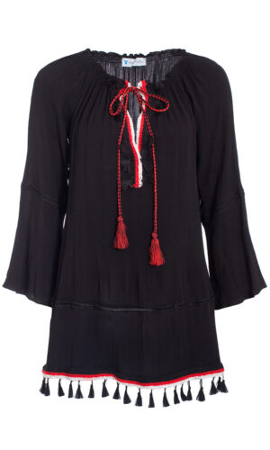 BLACK & RED YULI DRESS