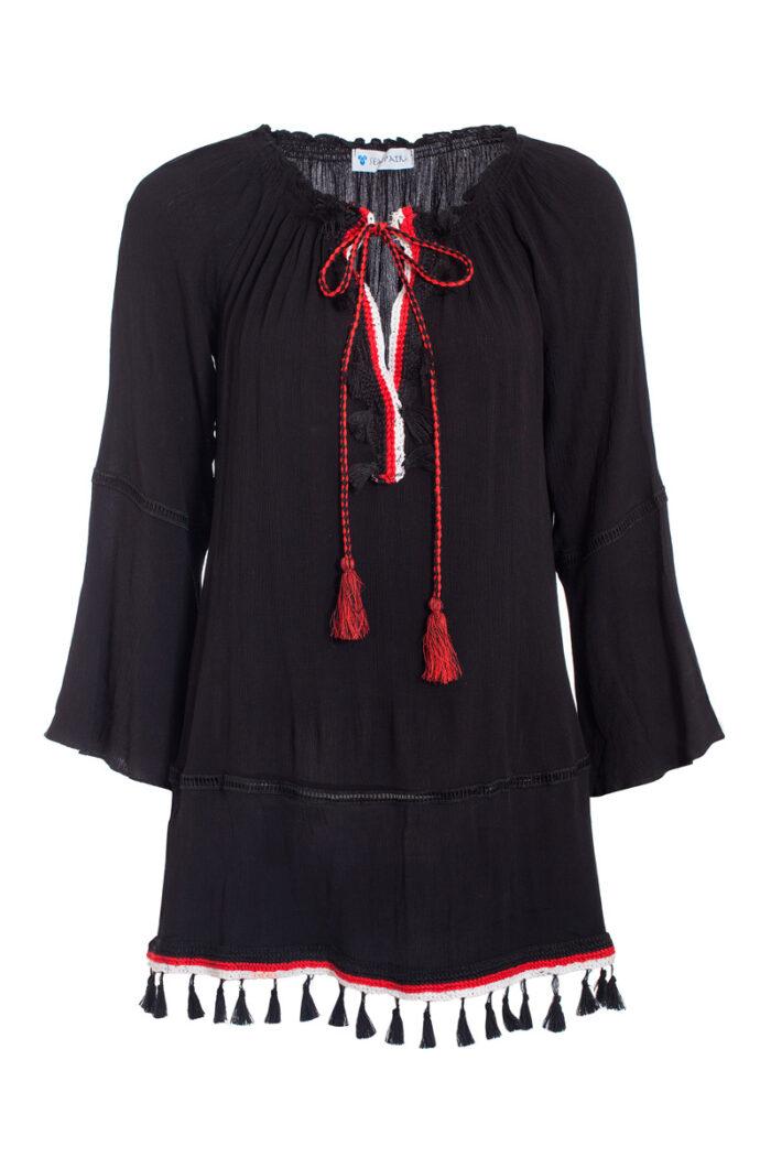 BLACK & RED YULI DRESS