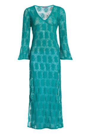 TURQUOISE CROSHET DRESS