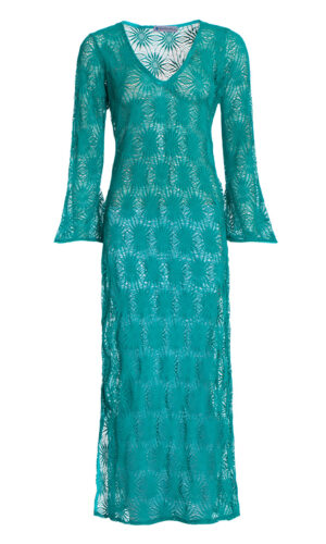 TURQUOISE CROSHET DRESS