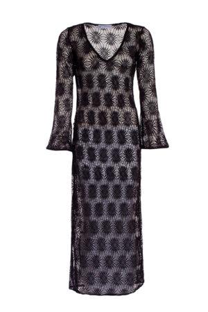 BLACK CROSHET DRESS