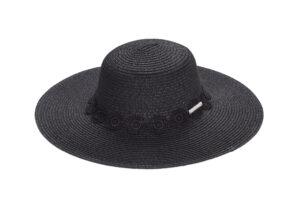 BLACK CROSHET HAT