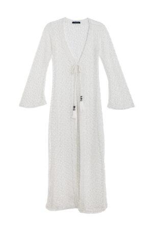WHITE OPEN NET DRESS