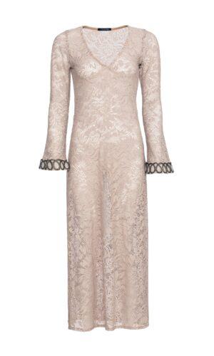 KHAKI CROSHET DRESS
