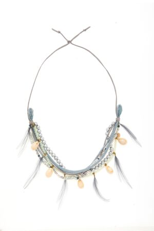 SHELLS & FEATHERS NECKLESS