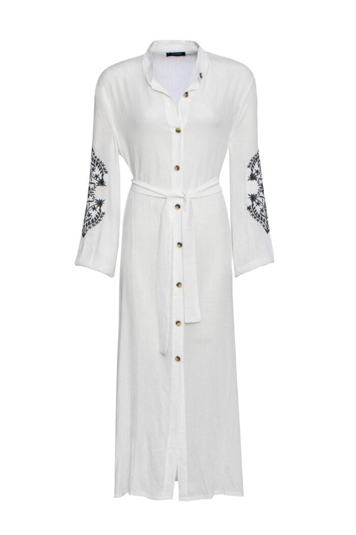 WHITE MYKONOS DRESS