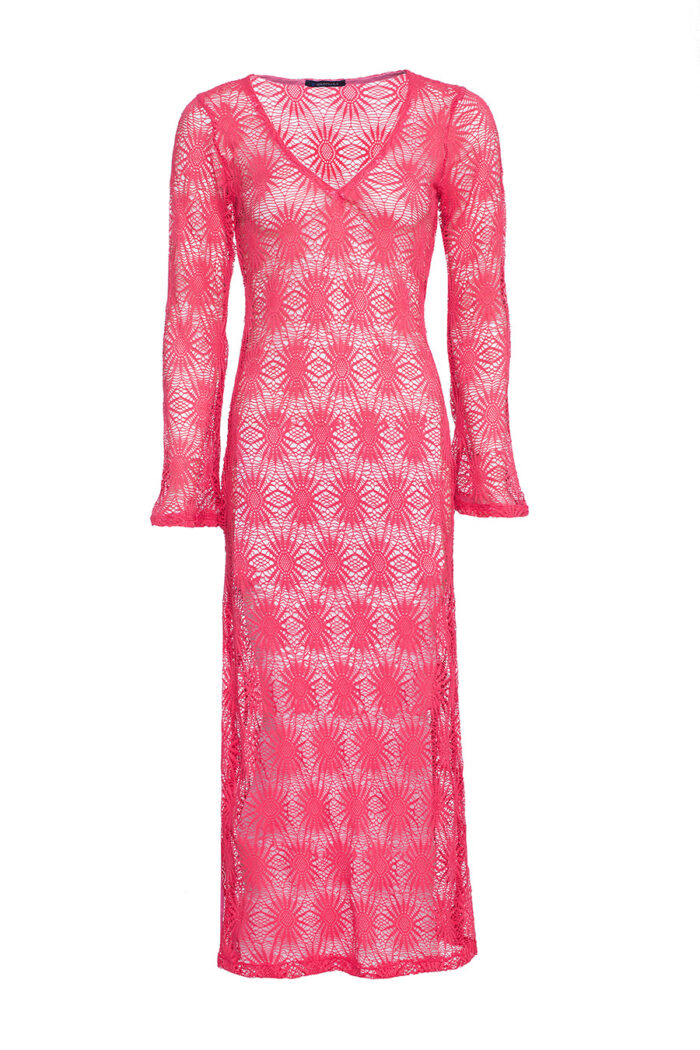 PINK CROSHET DRESS