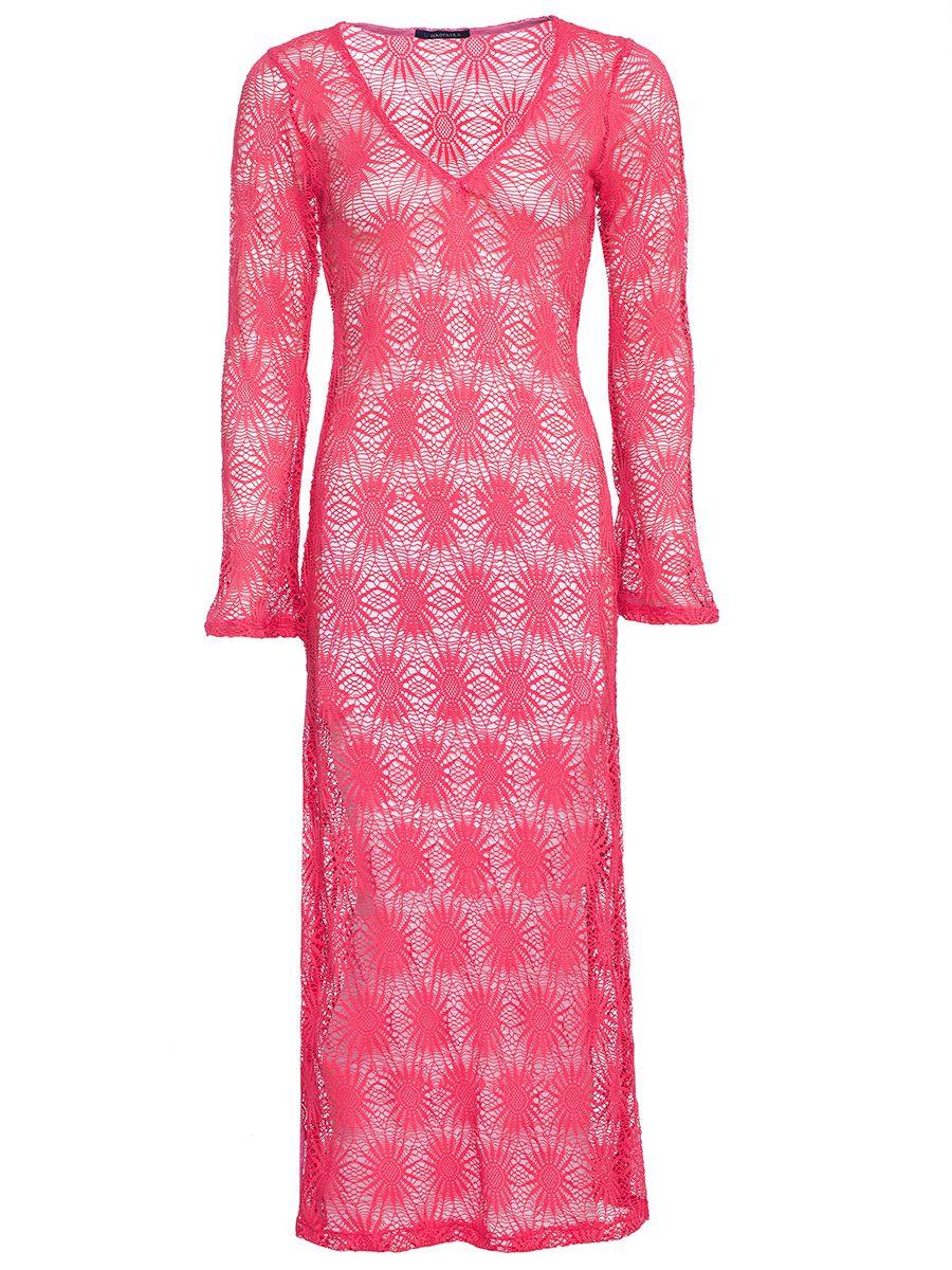 PINK CROSHET DRESS