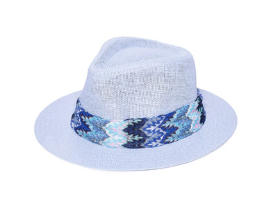 LIGHT BLUE & BLUE MELANIA HAT