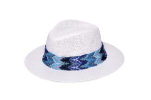 WHITE & BLUE MELANIA HAT