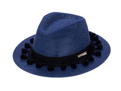 MILA NAVY BLUE&BLACK HAT