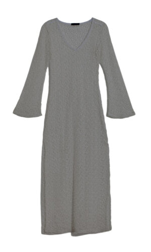 GREY NET V DRESS