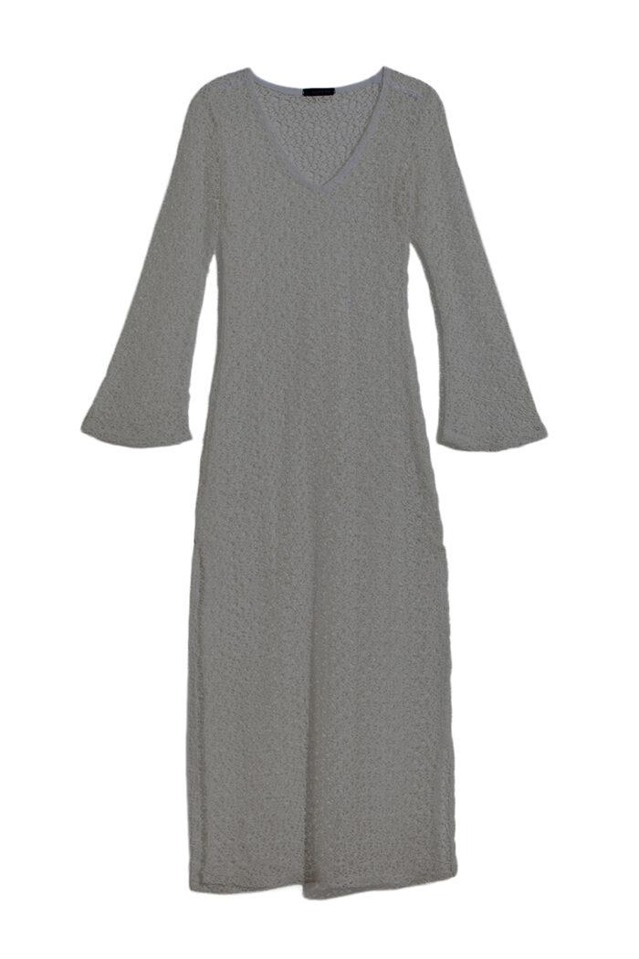 GREY NET V DRESS